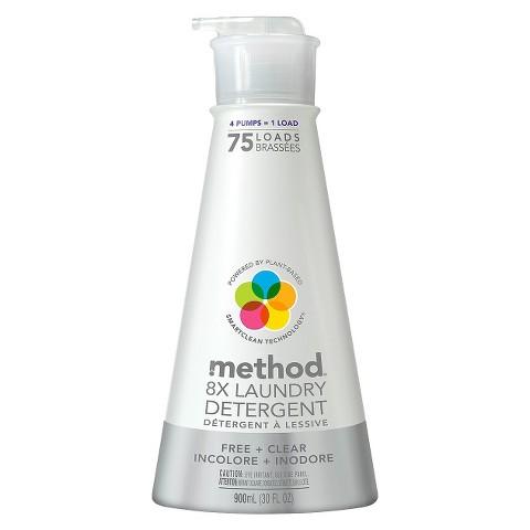 Method Liquid Laundry Detergent Free + Clear 75 Loads 30 oz