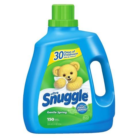 Snuggle Gentle Spring Scent Liquid Fabric Softener 120 oz