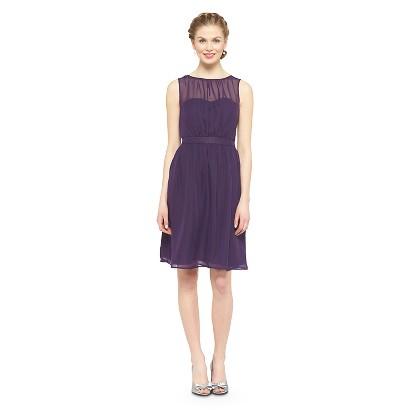 Women's Chiffon Illusion Sleeveless Bridesmaid Dress Fashion Colors - TEVOLIO&#153