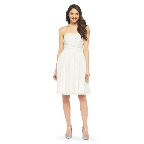 Women's Chiffon Strapless Bridesmaid Bridesmaid Dress Neutral Colors - TEVOLIO™