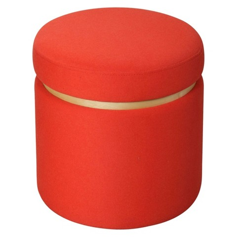 Room Essentials™ Storage Ottoman - Orange