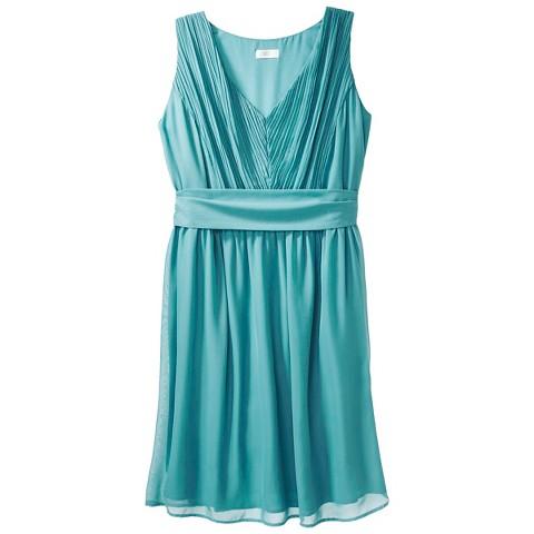 Women's Chiffon V-Neck Bridesmaid Dress Fashion Colors - TEVOLIO&#153