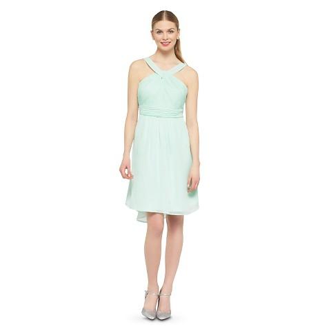 Women's Halter Neck Chiffon Bridesmaid Dress Fashion Colors - TEVOLIO&#153