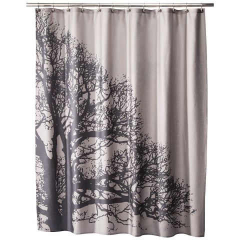 tree silhouette shower curtain product details page
