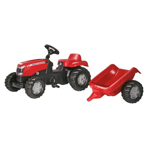 Kettler MASSEY FERGUSON Kid Tractor w/Trailer Ride On Toy