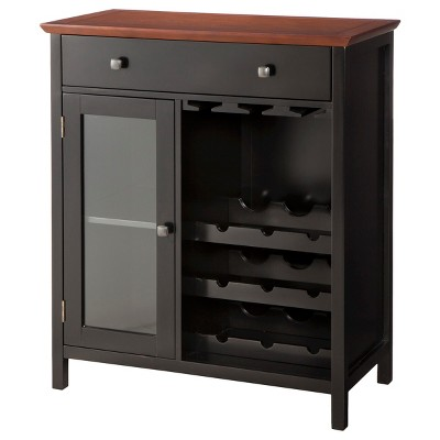 Marin Wine & Storage Cabinet - Black