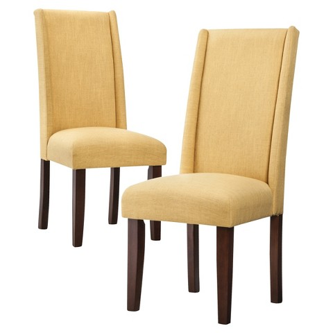 Charlie Modern Wingback Dining Chair Set of 2 Tar