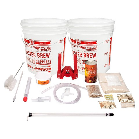 Essential Homebrew Kit with Oktoberfest and American Wheat Beer Recipes
