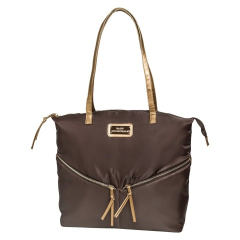 Baby Essentials Nylon Diaper Bag Tote - Brown