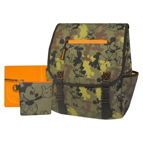 Disney Mickey Mouse Camo Diaper Bag Backpack - Green