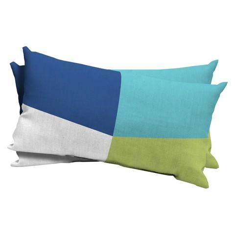 Room Essentials™ 2-Piece Lumbar Pillow - Baby Turquoise