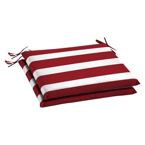 Room Essentials™ 2-Piece Seat Cushion Set - Red Stripe