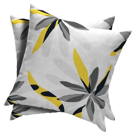 Room Essentials™ 2-Piece Square Toss Pillow -  Grey Mist