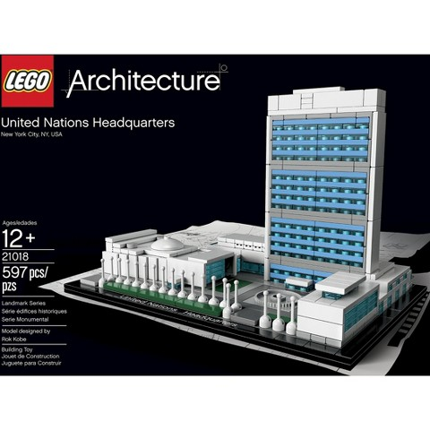 Lego architecture united nations headquarters 2 target for Architecture lego
