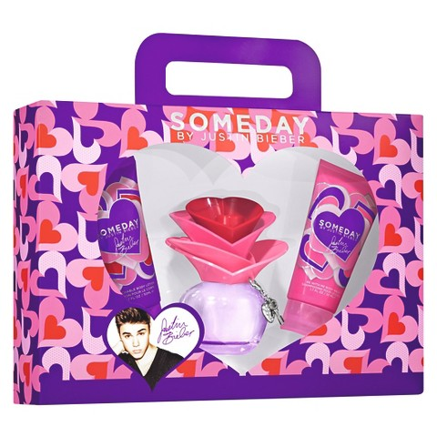 Women's Justin Bieber Someday  Eau de Parfume  3 Piece Gift Set Plus Free Celebrity Voice Ringtone