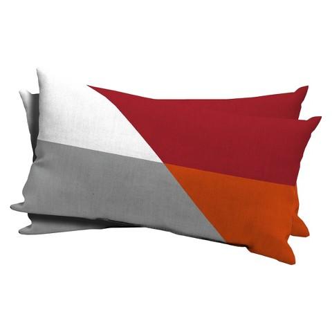 Room Essentials™ 2-Piece Lumbar Pillow - Ripe Red