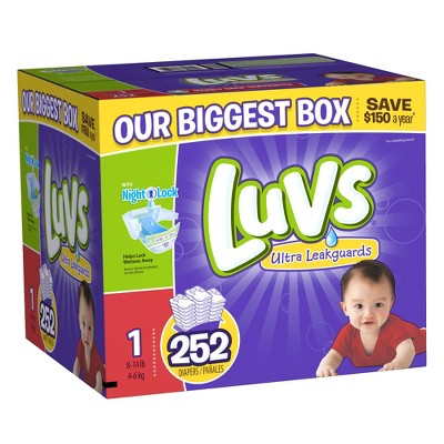 Luvs Ultra Leakguard Baby Diapers - Size 1 (252 Count)