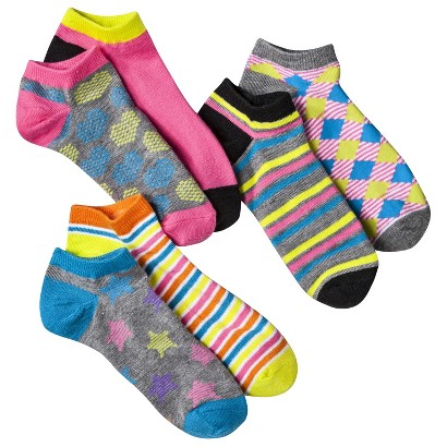 Junior's Single Low Cut Mix and Match Socks 6-Pack