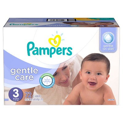 Pampers Gentle Care Diapers, Super Pack - Size 3  (72 Count)
