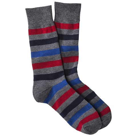 Merona® Men's 1pk Dress Socks - Assorted Rugby Stripes