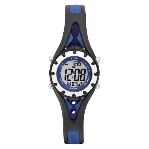 C9 by Champion® Women's Plastic Strap Digital  Watch  - Black/Blue