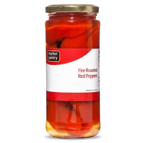Fire Roasted Red Peppers 16 oz - Market Pantry™