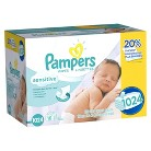 Pampers Sensitive Baby Wipes - 1,024 Count