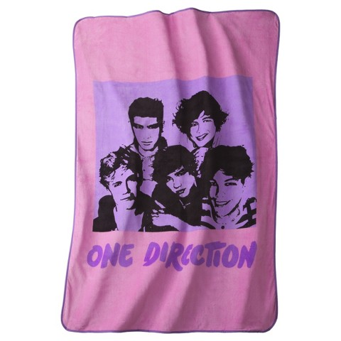 One Direction Silhouette Blanket - Pink/Purple