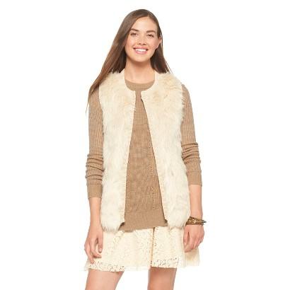 Open Faux Fur Vest Gray - Xhilaration®