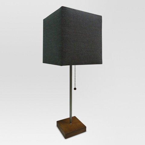 Threshold™ Square Shade Stick Lamp with Wood Base