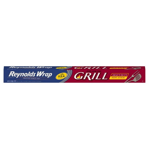 Reynolds Wrap Aluminum Foil Heavy Duty Non Stick Grill 37.5 sq ft