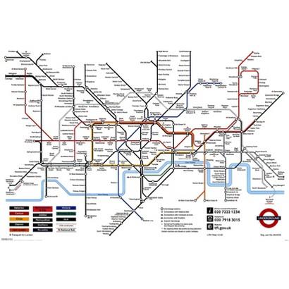 Art.com - London Underground Map