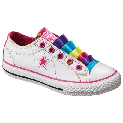 Girl's Converse® One Star®  Fancy Sneaker - White