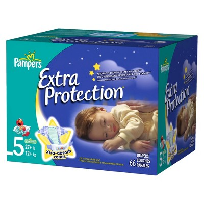 Pampers Extra Protection Diapers Super Pack Size 5 (66 Count)