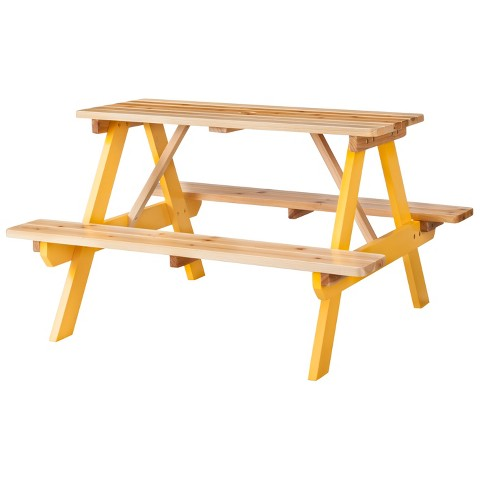 Room Essentials™ Kids Wood Patio Picnic Table - Yellow