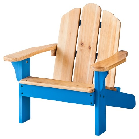 Room Essentials™ Kids Wood Patio Adirondack Chair - Blue