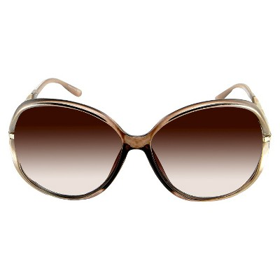 Oval Sunglasses - Tan