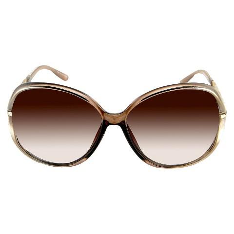 Oval Sunglasses - Tan