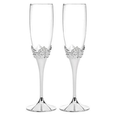 Cinderella Wedding Champagne Flutes