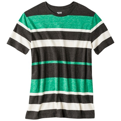 Men's Slim Fit Striped T-Shirt Gray/Green/Blue - Mossimo Supply Co.