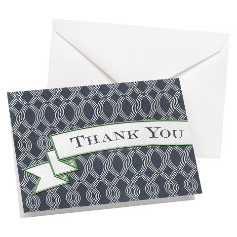 Trellis Thank You Card (50 count) - Navy