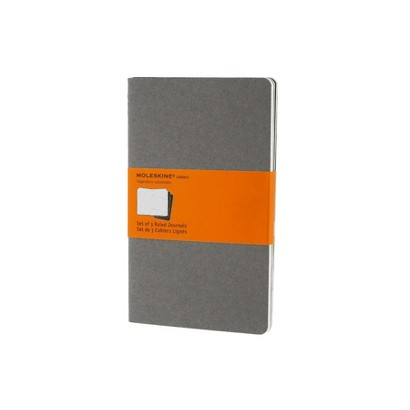 Moleskine Cahier Journal Grey Large Ruled 5x8.25