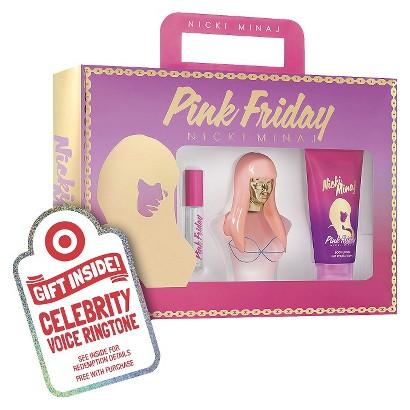 Women's Nicki Minaj Pink Friday  Eau de Parfume  3 Piece Gift Set Plus Free Celebrity Voice Ringtone