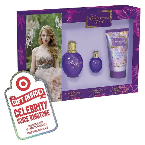 Women's Taylor Swift Wonderstruck 3 Piece Gift Set Plus Free Celebrity Voice Ringtone