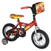 """Huffy Disney Cars 12"""" Boys Bike With Pit Crew Bag - Red/Yellow"""