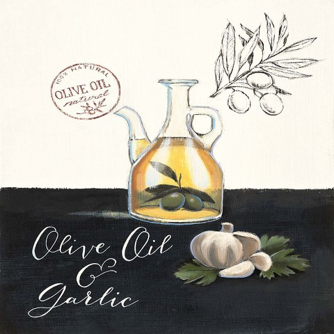 Wall Hanging Olive Oil & Garlic 12x12