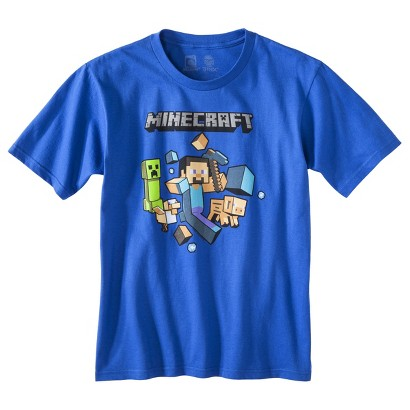 Minecraft Boys' Graphic Tee -  Blue