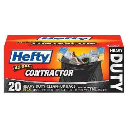 Hefty Heavy Duty Clean-Up Bags 45 gallons 20 ct