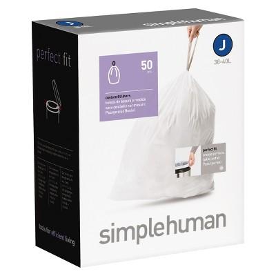 simplehuman Code J Custom Fit Trash Can Liner (50-Pack)
