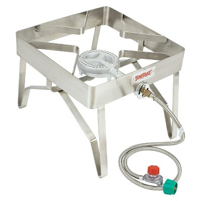 Bayou Classic Single Burner Patio Stove- Stainless Steel